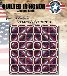 """Stars & Stripes"" Free Pattern designed by Jackie Robinson from Island Batik"
