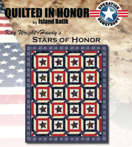 """Stars of Honor"" Free Pattern designed by Kay Wright-Handy from Island Batik"