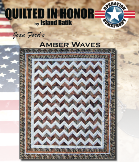 """Amber Waves"" Free Pattern designed by Joan Ford from Island Batik"