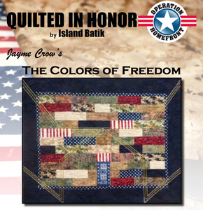 """The Colors of Freedom"" Free Pattern designed by Jayme Crow from Island Batik"