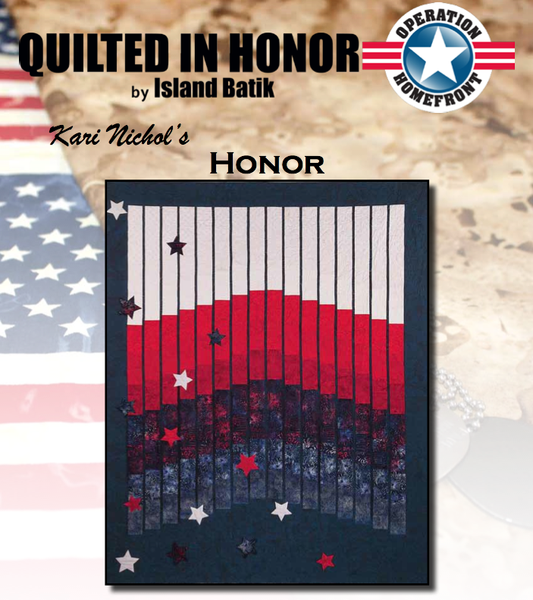"""Honor"" Free Pattern designed by Kari Nichols from Island Batik"