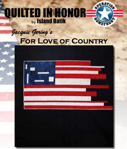 """For Love of Country"" Free Pattern designed by Jacquie Gering from Island Batik"