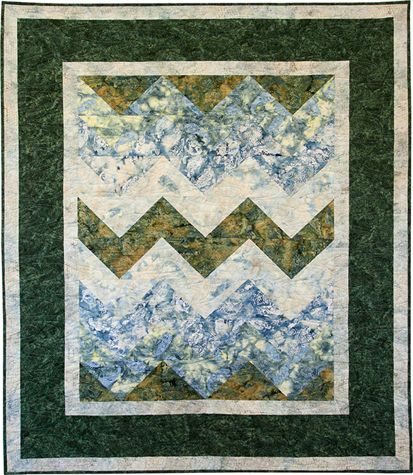Zig Zags at the Lake by KISSed Quilts
